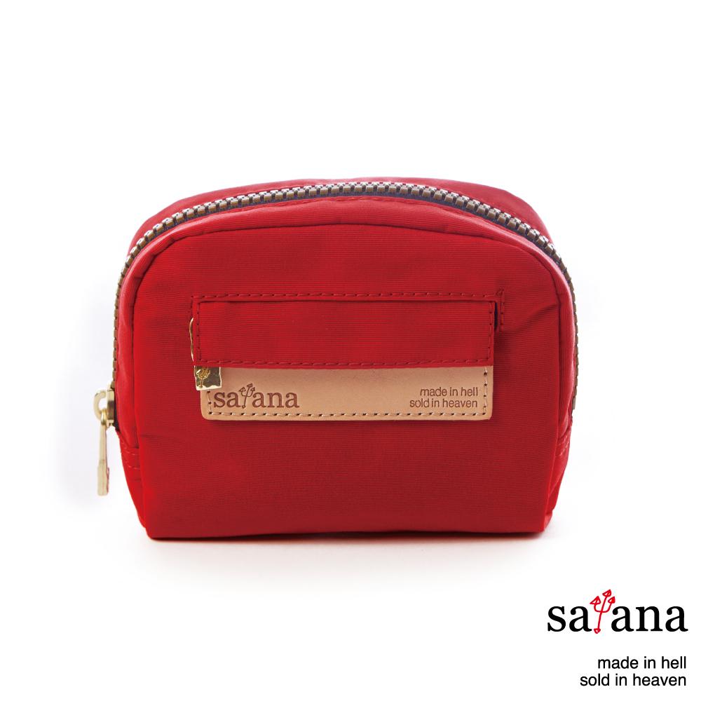satana - 迷你隨身化妝包/零錢包 - 中國紅