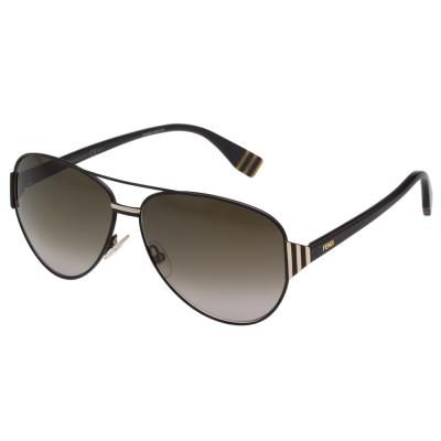 FENDI 雷朋造型 太陽眼鏡 (黑配金)FF0018S-7SD