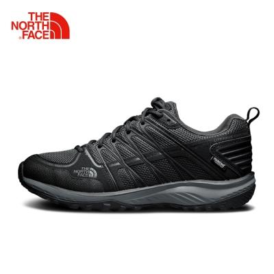 The North Face北面男款黑色防滑透氣徒步鞋