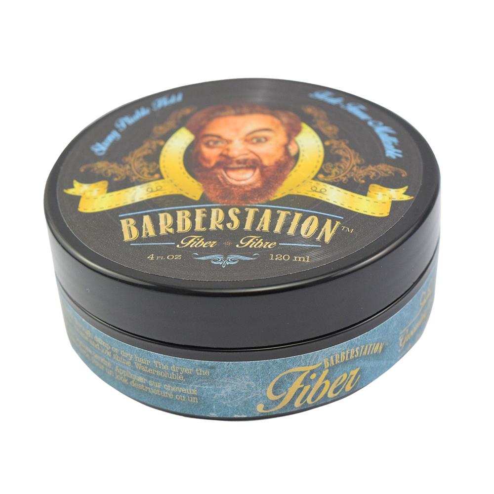 BARBERSTATION巴博士 硬漢髮纖(藍)120ml
