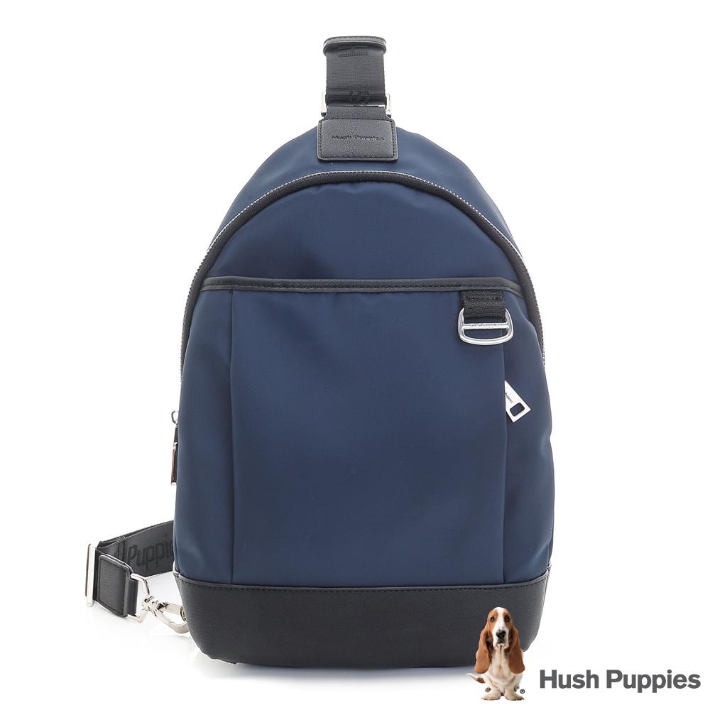 Hush Puppies GRAYSON 休閒單肩背包-深藍