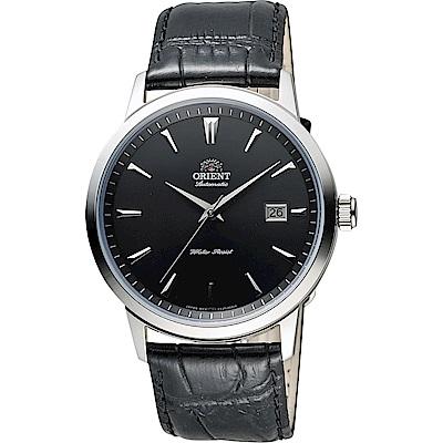 ORIENT 東方 DATE系列日期顯示機械錶-黑/41mm