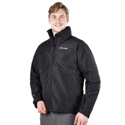【Berghaus貝豪斯】男款GT2合1高科技棉防水外套H22MU5-黑