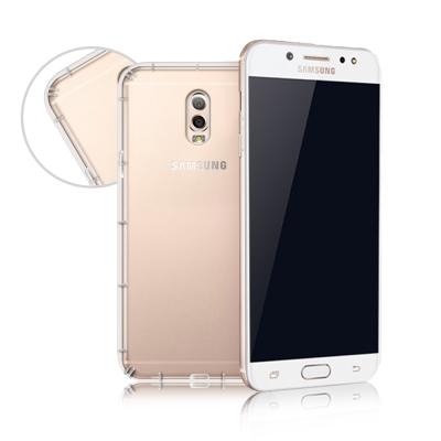 XM Samsung Galaxy J7+ 四角防護抗震氣墊保護殼
