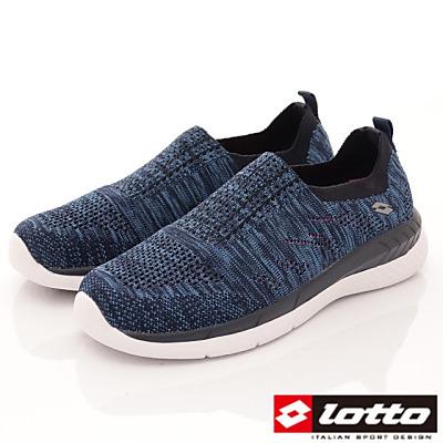 Lotto樂得-飛織輕走慢跑鞋-XFI906藍(女段)
