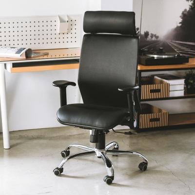 完美主義 皮革高背頭靠美型機能鐵腳電腦椅/辦公椅