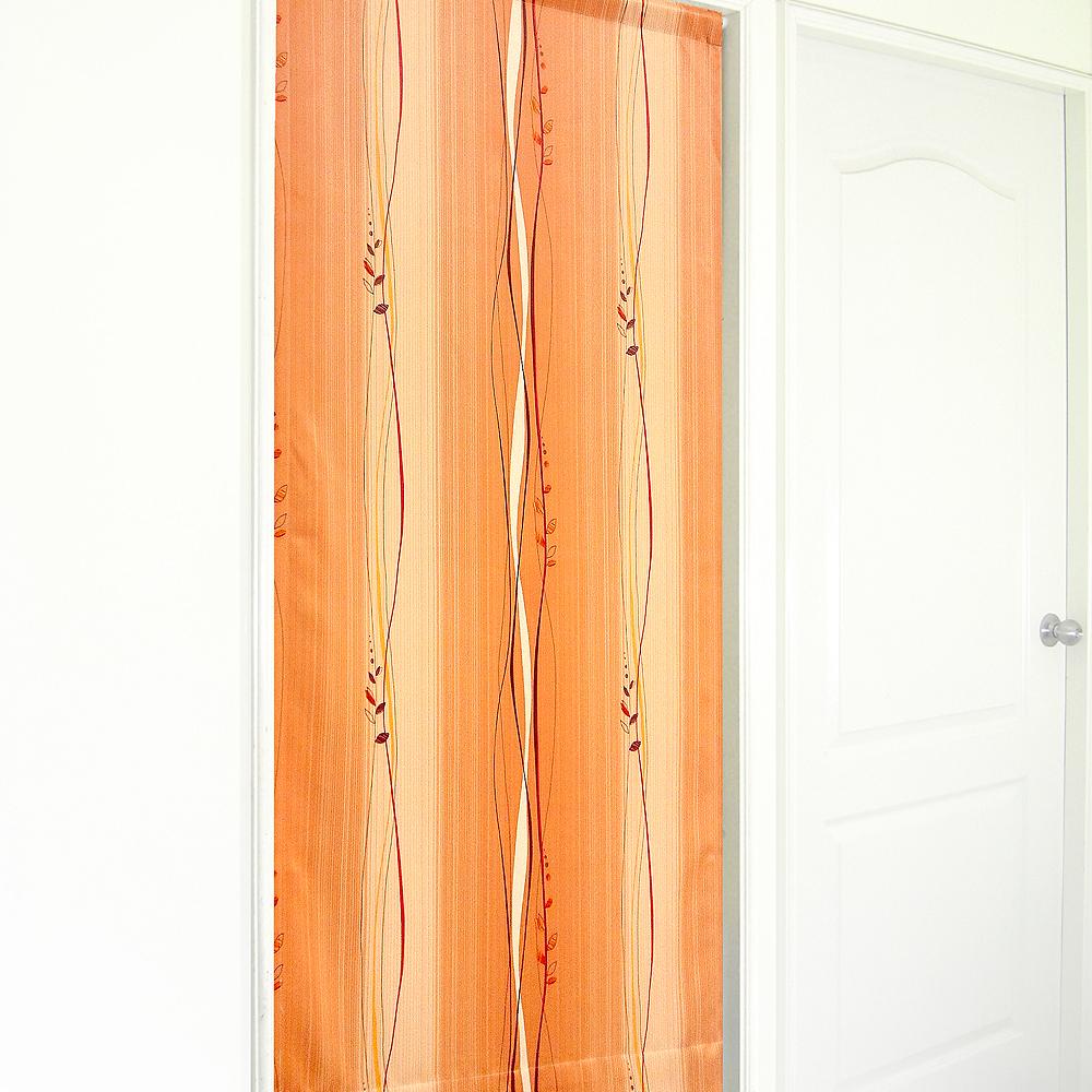 布安於室-斯拉密遮光風水簾-紅橘色