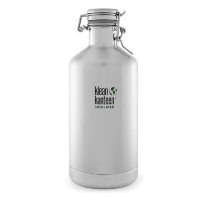 美國Klean Kanteen快扣鋼蓋保冰鋼瓶1900ml-原鋼色