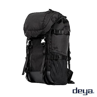 deya 布里斯托雙肩大後背包-黑色