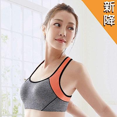 華歌爾 TRAINING 系列 A-B 罩杯專業運動胸罩  (鐵人灰)