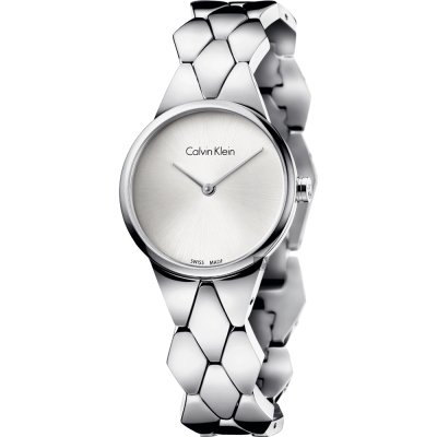Calvin Klein CK Snake 蛇紋時尚鍊帶錶-28mm K6E23146