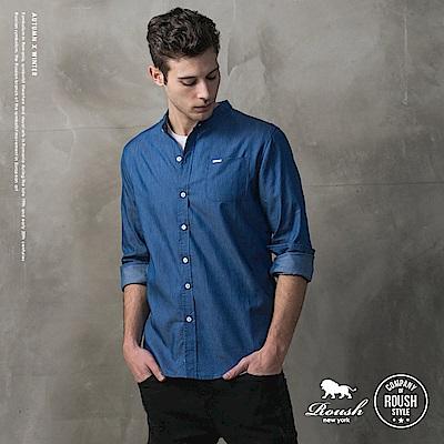 ROUSH 韓版立領牛仔襯衫 (2色)