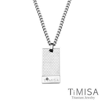 TiMISA 宣言M 軍牌純鈦項鍊(M02D)
