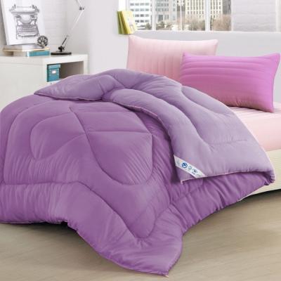 精靈工廠 3M吸濕排汗專利抗菌奈米銀離子雙色發熱羊毛被2KG/紫