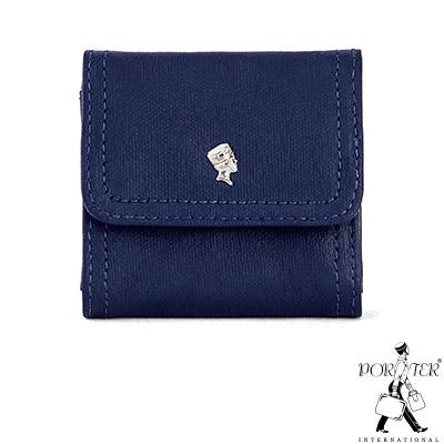 PORTER - 輕甜繽紛SPIRIT復古雙層零錢包 - 海軍藍(銀)