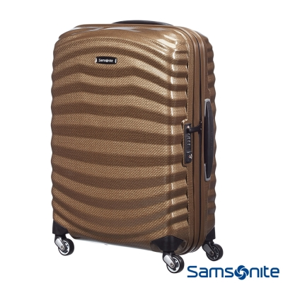 Samsonite新秀麗28吋Lite Shock極輕Curv四輪拉桿頂級硬殼箱(流沙色)