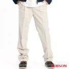 【BOBSON】男款超手感打摺休閒褲(卡其72)