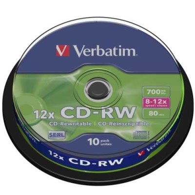 威寶 SERL CD-RW 4X-12X 700MB 桶裝(10片)