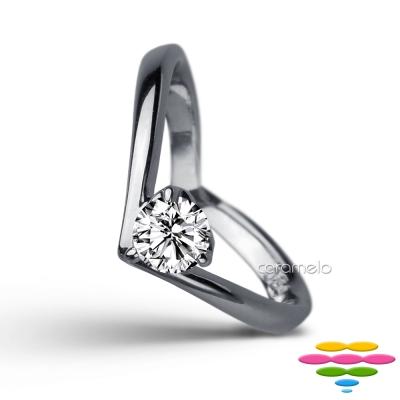 彩糖鑽工坊 19分鑽石戒指 愛心鑽戒 甜蜜愛心系列