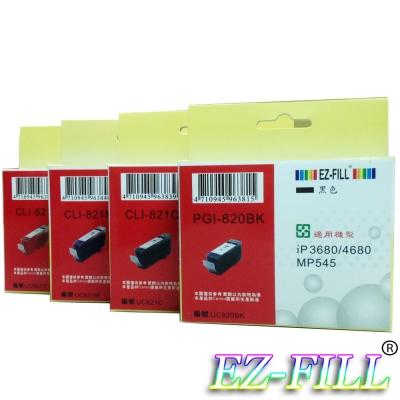 EZ-FILL CANON PGI-820BK+CLI-821C/M/Y相容墨匣