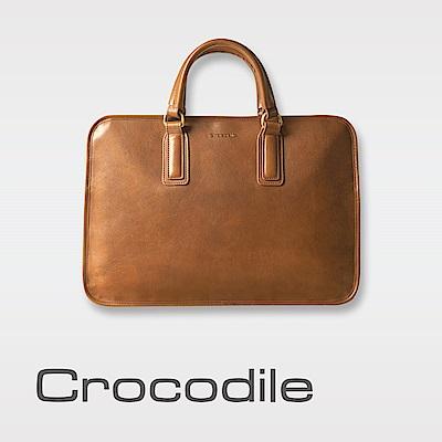 Crocodile Natural 義大利植物鞣原皮 公事包 0104-07707-02