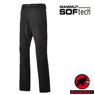 【MAMMUT 長毛象】男 SOFtech  4 D彈性防潑水軟殼長褲_黑
