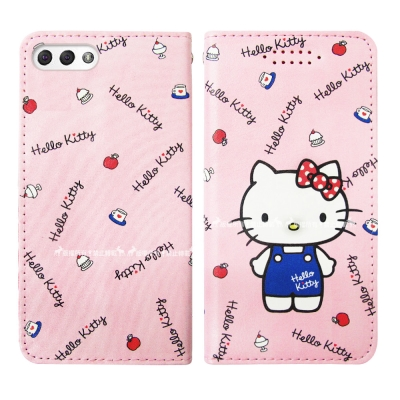 Hello Kitty貓 ASUS ZenFone 4 ZE554KL 皮套(點心)