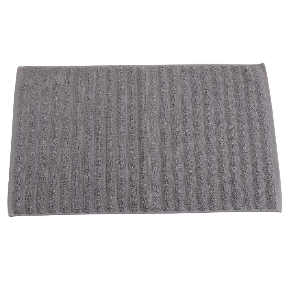 【LOVEL】波浪立體造型純棉浴墊/地墊-珍珠灰