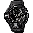 CASIO 卡西歐PROTREK 太陽能冒險家登山錶-黑(PRG-270-1A)