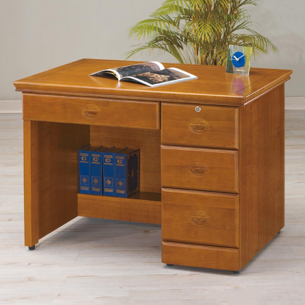 AS-伯尼實木3.5尺書桌-104.5x65x80cm