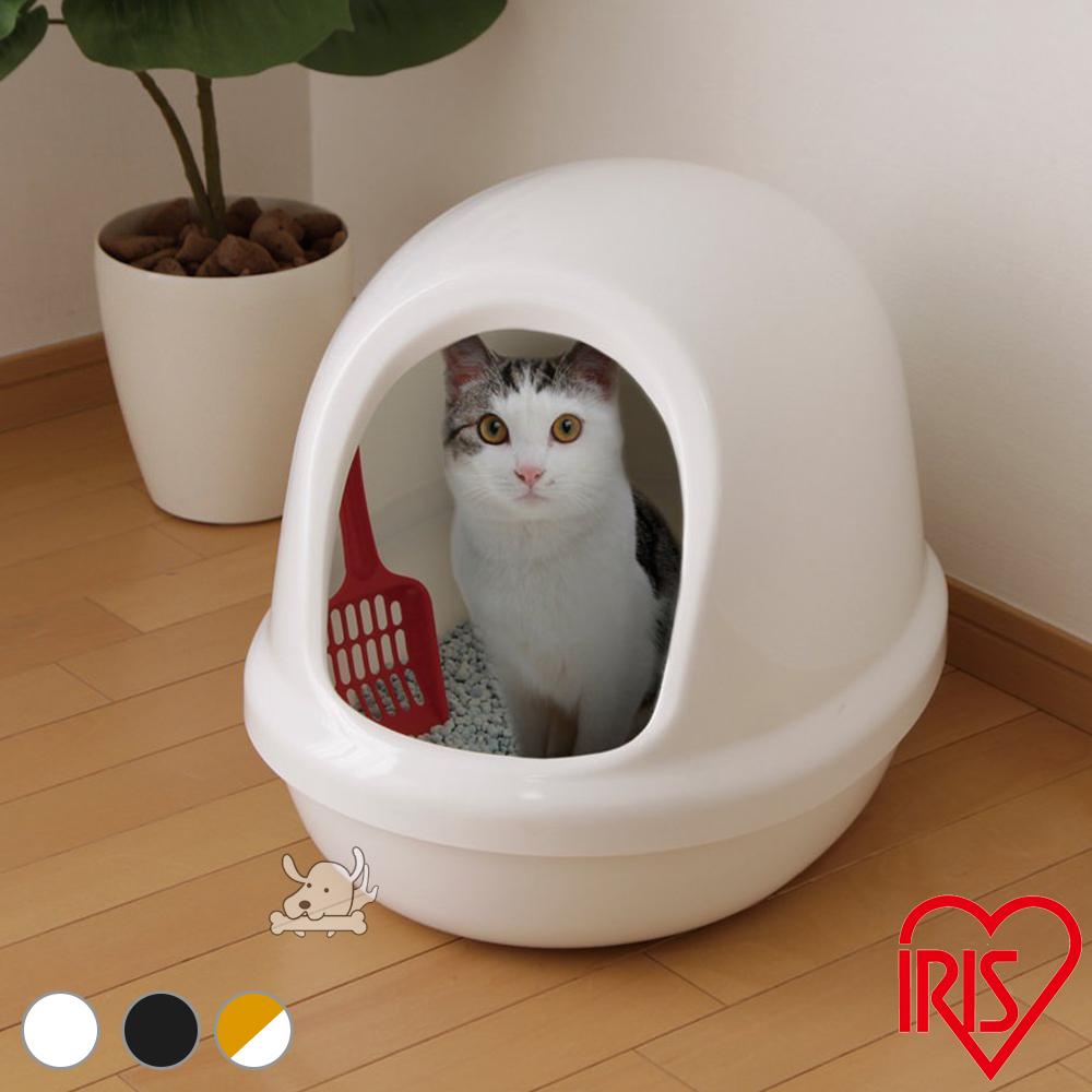 IRIS 日本 簡易屋型單層貓砂盆(PNE-500F)共3色