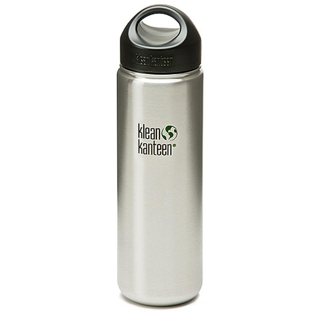美國Klean Kanteen寬口冷水鋼瓶800ml-原鋼色