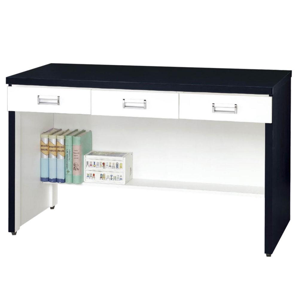 CASA卡莎 黑白簡約4尺三抽書桌