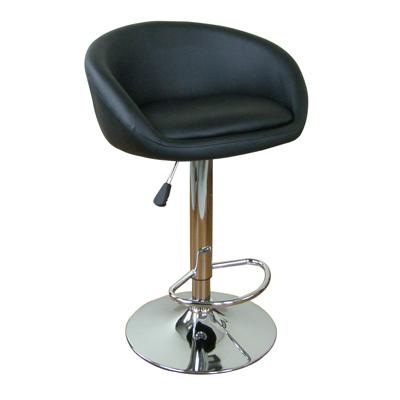 E-Style 高級精緻時尚伸縮皮革吧台椅-黑色
