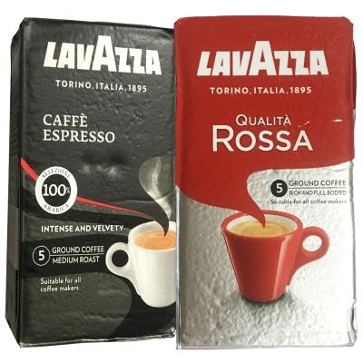 LAVAZZA ESPRESSO黑牌咖啡粉(2包)+ROSSA研磨咖啡粉(2包)