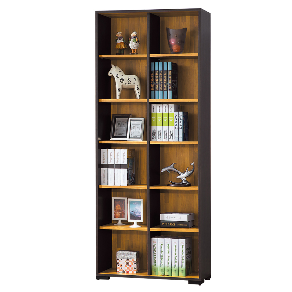 Boden-費里2.7尺開放式多格書櫃/收納櫃-81x30x197cm