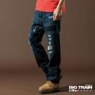 【BIG TRAIN】貼布牛仔垮褲
