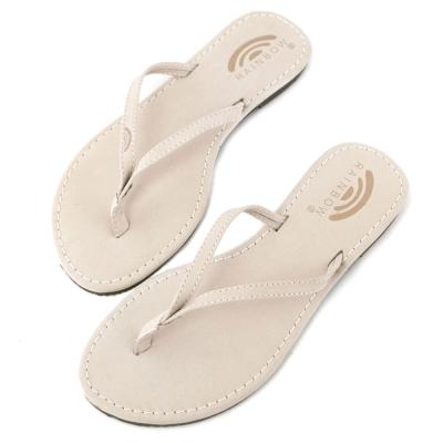 Rainbow Sandals美國牛麂皮夾腳休閒拖鞋-米色