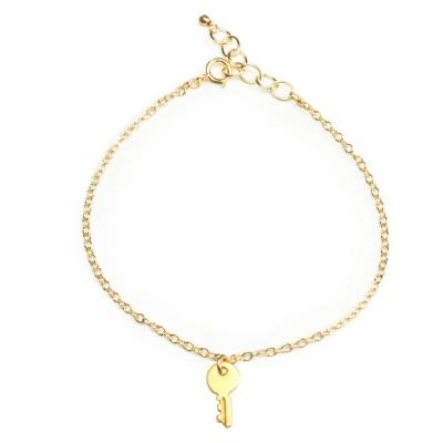 Dogeared 金色鑰匙 Confidence key 充滿自信 金色許願手鍊 附原廠盒