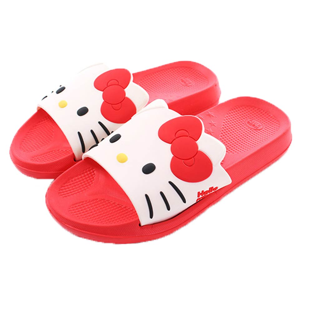 Hello kitty休閒拖鞋 紅 sk0340 魔法Baby