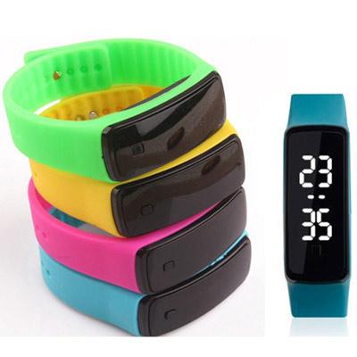Watch-123 您好色彩-二代白光按鍵LED智通手環腕錶/20mm