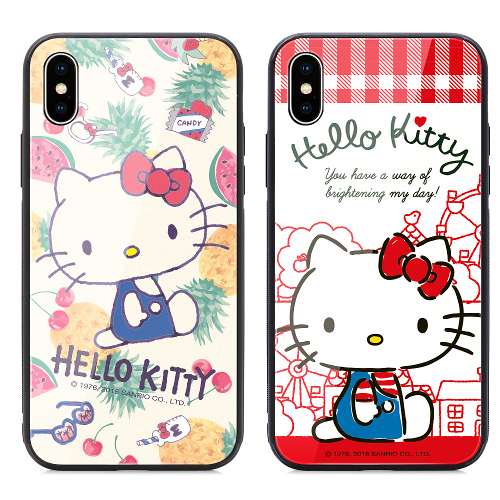 GARMMA Hello Kitty iPhone 7/8+ 鋼化玻璃殼
