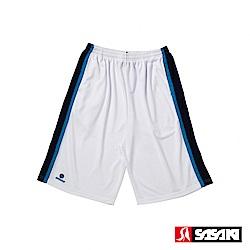 SASAKI 長效性吸排籃球短褲-男-白/丈青