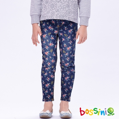 bossini女童-印花牛仔褲07深靛藍