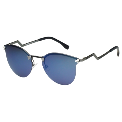 FENDI 反光鏡面 太陽眼鏡 (亮麗藍色)