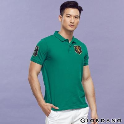 GIORDANO-男裝勝利獅王盾牌POLO衫-10