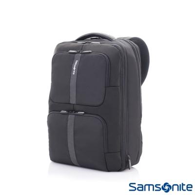 Samsonite-新秀麗GARDE經典多功能對開式四段可擴充筆電後背包-15-6吋-黑