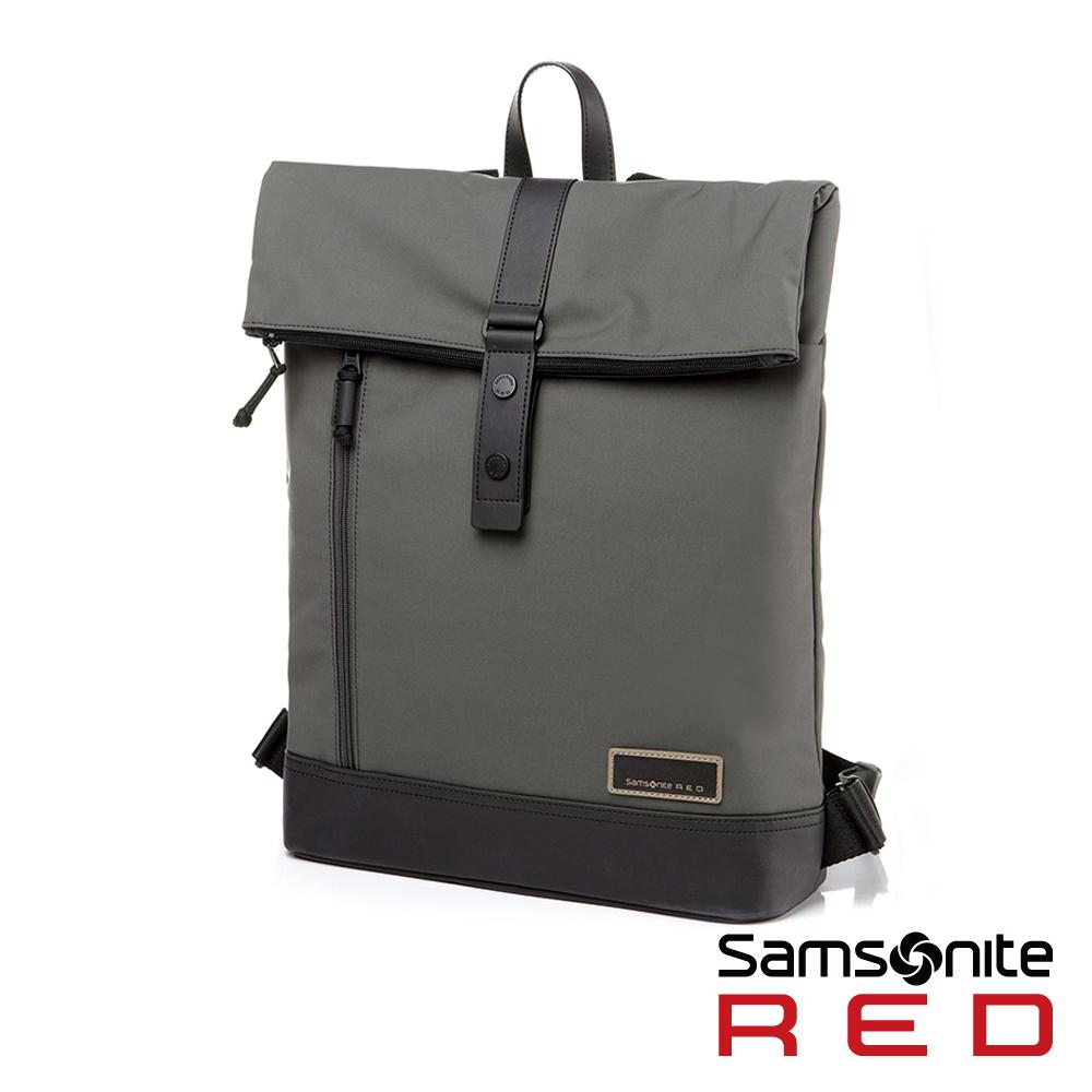 Samsonite RED GLEHN休閒折疊翻蓋筆電後背包-12.5吋(卡其綠)