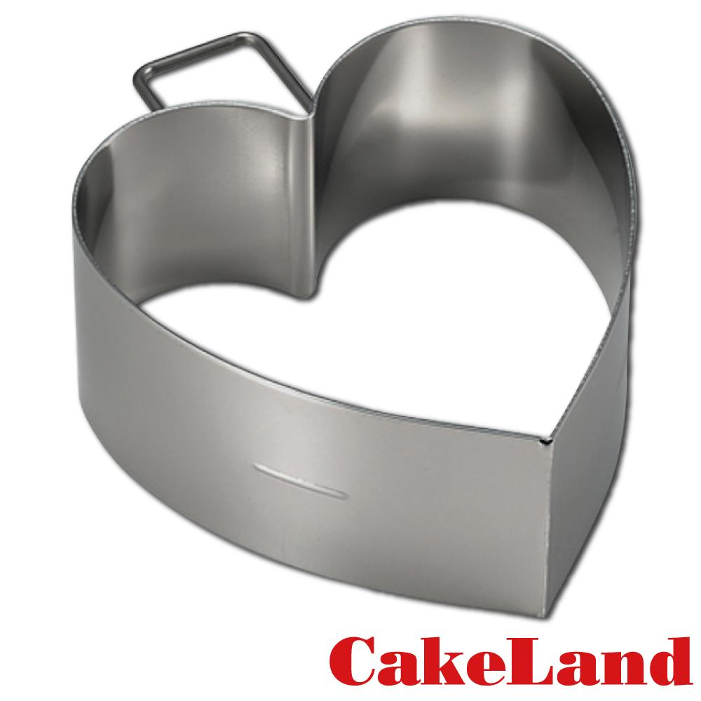 日本CakeLand 麵包蛋糕不鏽鋼深型煎烤模-心型(日本製)