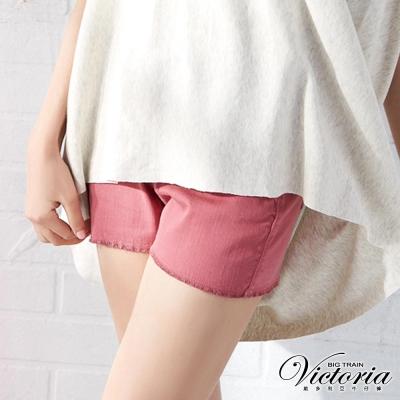 Victoria 天絲棉高腰短褲-女-桃紅